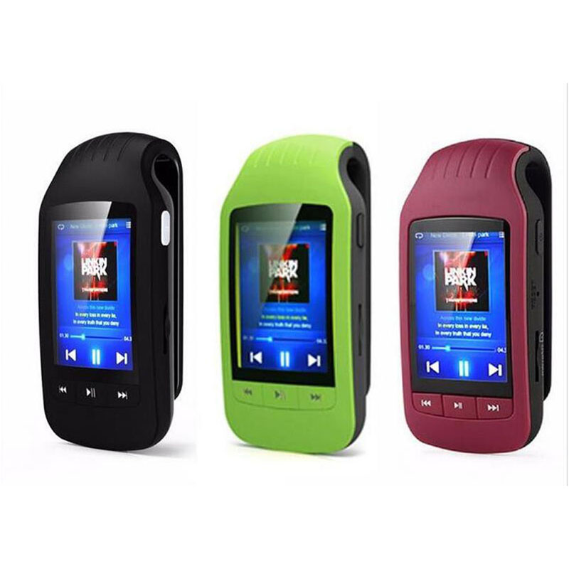HOTT Portable Mini Bluetooth Mp3 Player Mp3 Music Player With Sport Clip Sport Pedometer FM Radio SD Card 1.8 Inch Screen