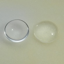Wholesale 25mm 1 Inch round  Transparent Round Domed Magnifying Glass Cabochon Clear glass tiles cabochon for pendants DIY