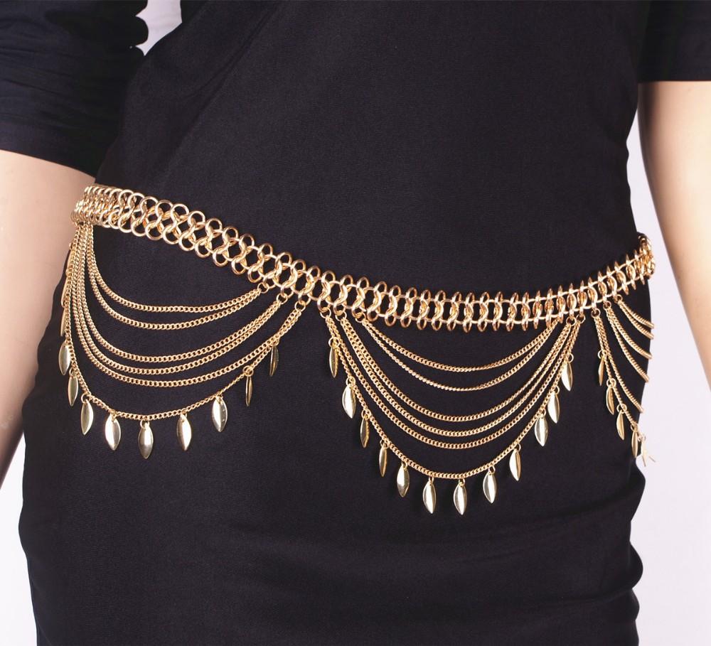 HTB1z1X8JFXXXXXOXFXXq6xXFXXXY Golden Turkish Gypsy Belly Dancing Leaf Tassel Belly Chain For Women