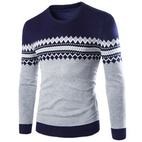 2017 Brand New Sweaters Men Fashion Style Autumn Winter Patchwork Knitted Quality Pullover Men O Neck