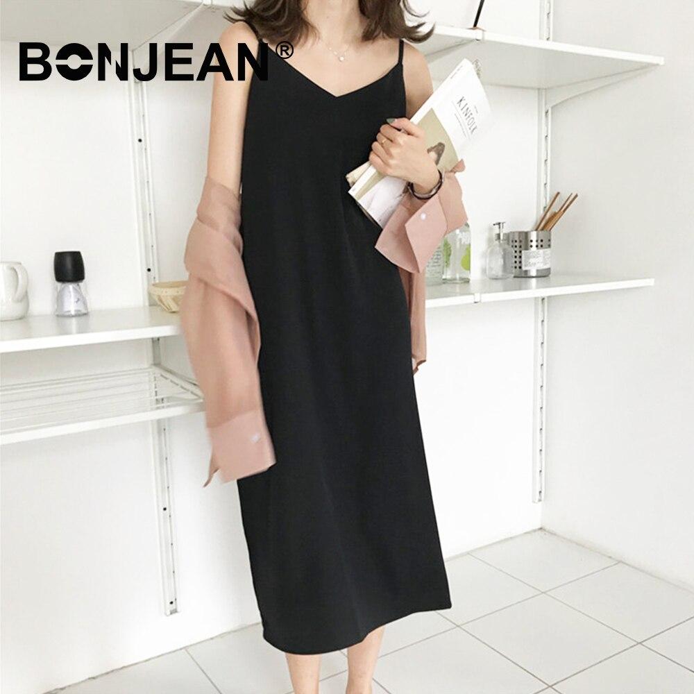 Spaghetti Strap Dress Elegant V Neck Black Orange Dress Long Robe Longue Femme Jurken Summer Clothes For Women Sukienki Z266