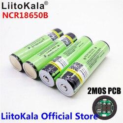2017 원래 LiitoKala 18650 3400 미리암페르하우어 배터리 3.7 볼트 리튬 이온 Rechargebale 배터리 PCB 보호 파나소닉 NCR18650B 18650 3400