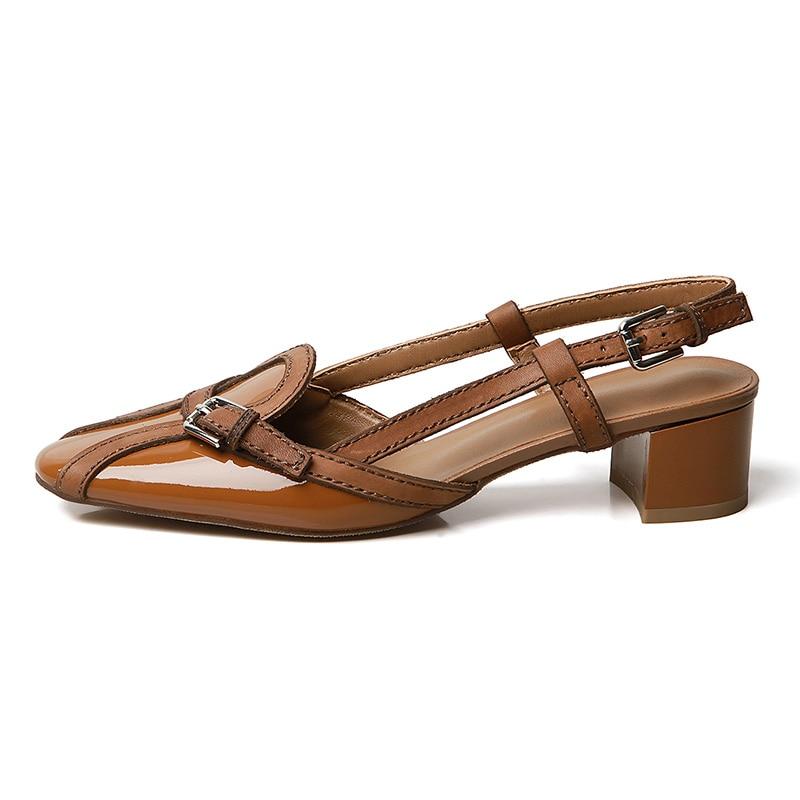 Sangle Chaussures Pour D'été Femme Vache Talons Luxe Nouvelle En Boucle Doratasia Ol Brown De Partie Sandales Cuir Décontracté Apricot dark Med Mode vnm80wN