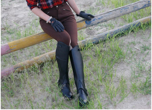 Equestrian Riding Leather Half Chaps  3