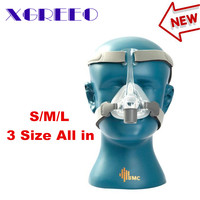 BMC XGREEO NM4 Nasal Mask With Headgear and SML 3 Size Silicon Gel Cushion For CPAP&Auto CPAP Sleep Snoring Apnea Health&Beauty