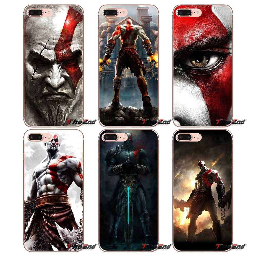 Accessories Bag Case For iPhone X 4 4S 5 5S 5C SE 6 6S 7 8 Plus Samsung Galaxy J1 J3 J5 J7 A3 A5 2016 2017 God of War Kratos III