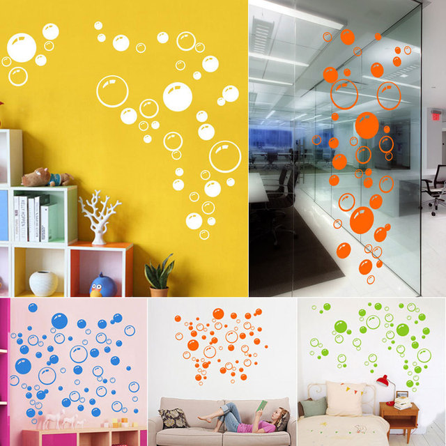 Fashion funny Bubbles Wall Art Sticker Bathroom Window Shower Decor ...