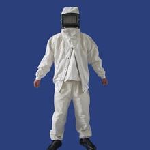 Zandstralen pak beschermende kleding, een stuk kap, verf schuren jas, full body bescherming, labor veiligheid kleding