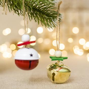 Świąteczne dzwonki na ozdoby na choinkę małe DIY rzemiosło bożonarodzeniowe wisiorek Jingle dzwonki bożonarodzeniowe ozdoby do domu tanie i dobre opinie WEISIPU Christmas DIY Decorations Bells ALLOY 1 pc christmas decorations for home christmas ornaments christmas ornaments christmas