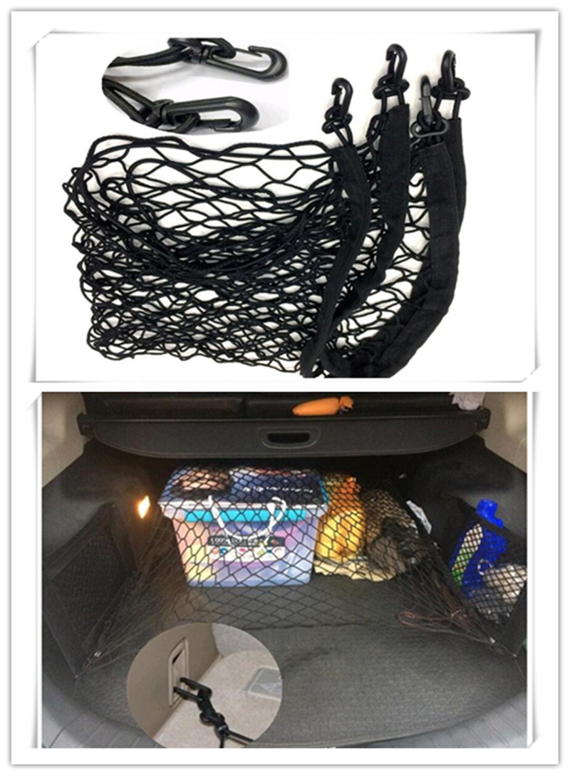 Hot auto accessories nylon car cargo trunk storage organizer net for nissan teana xtrail qashqai livina tiida sunny march murano in car stickers from