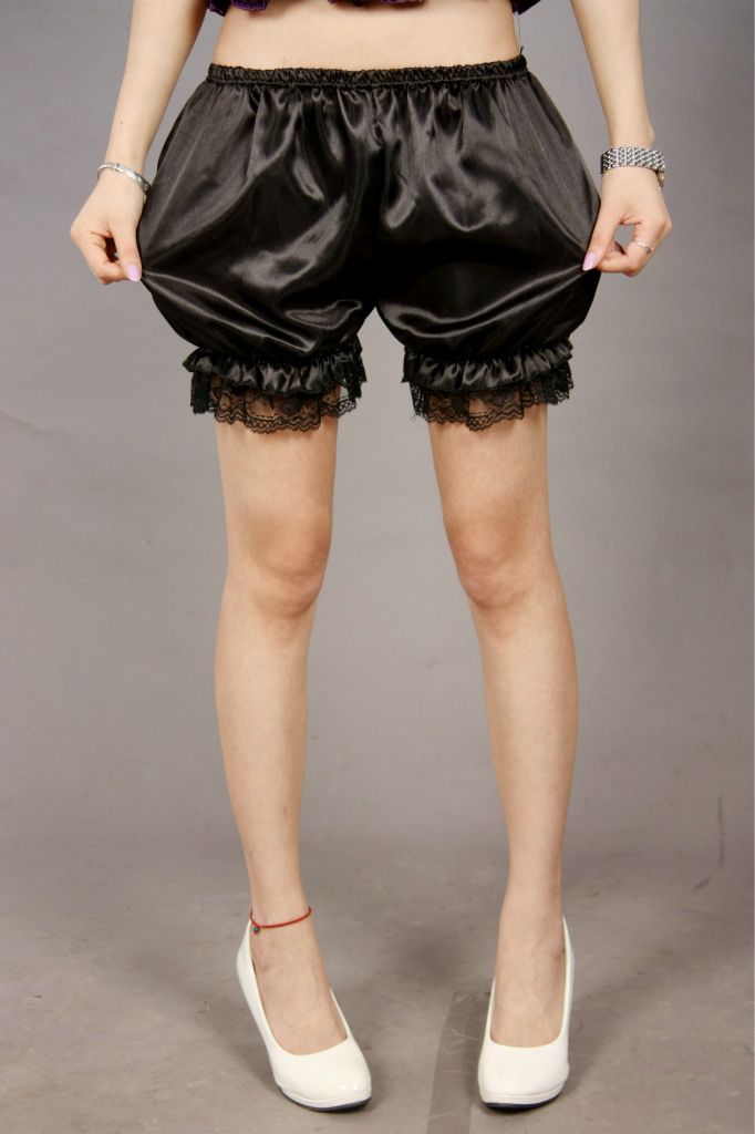 1 Piece 2020 Fashion Women Shorts Lace Decoration Pumpkin Woman Sleepwear Pajama Bloomers White Black Red New