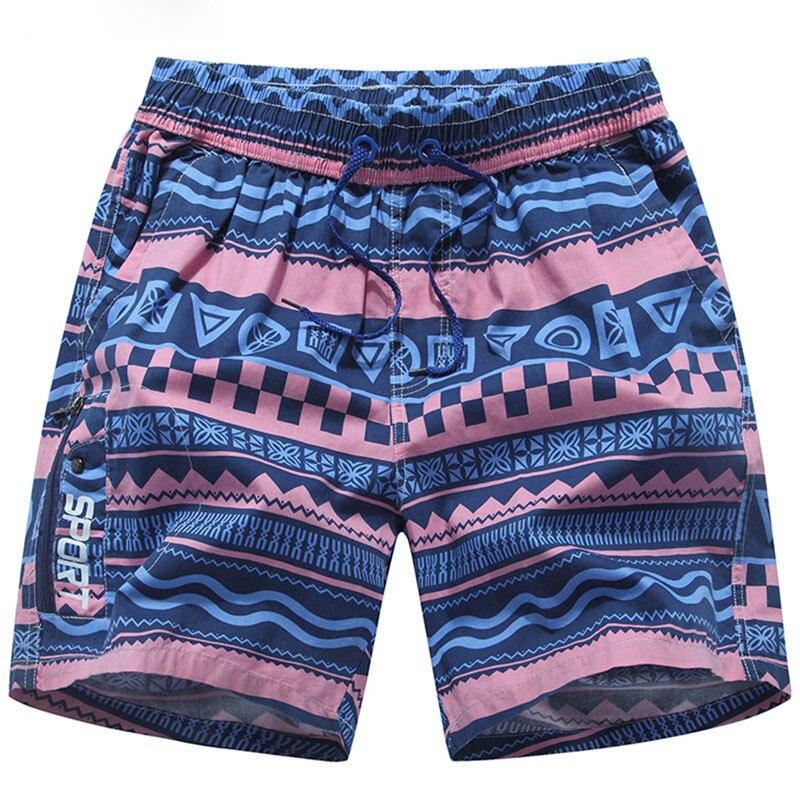 Plus Size 3XL Striped Men's Swimsuit   Shorts   Summer   Board     Shorts   For Men Cotton Elastic Waist Good Quality Male Sea   Shorts   Good