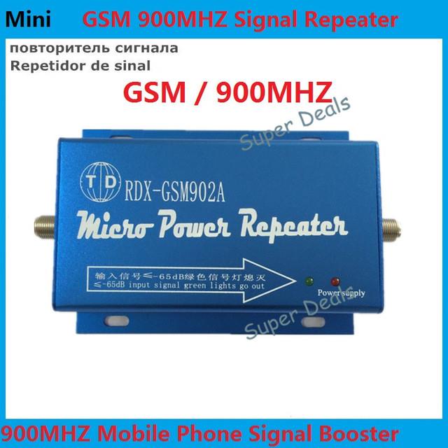 El más nuevo Mini GSM 900 Mhz Amplificador de Señal de Teléfono Móvil, GSM Repetidor de Señal, Teléfono celular kit Amplificador de Señal para La Familia/oficina
