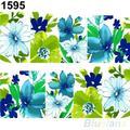 Bela Flor de Transferência Da Água do Decalque Manicure Nail Art Stickers Dicas Decoração 1UAX 4C2J