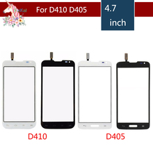 цена на 10pcs/lot High Quality For LG L90 D405 D405N and L90 Dual D410 Touch Screen Digitizer Sensor Outer Glass Lens Panel Replacement