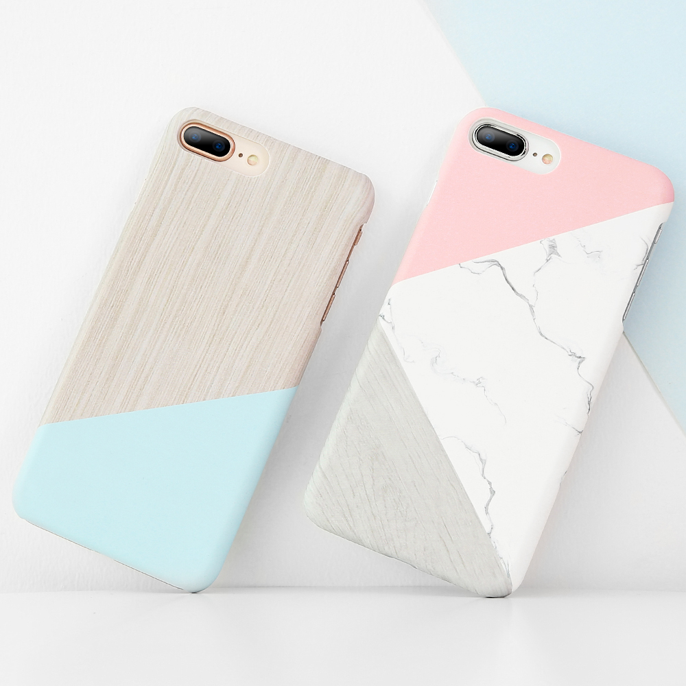 b3796fada17 FLOVEME For iPhone X XR iPhone 5S 5 SE Case Ultra Thin Marble Wood  Patterned Phone Cases For iPhone 7 6 6S Plus Funda Accessory