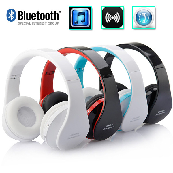 Top Quality Wireless Bluetooth Stereo Foldable Headset Handsfree Headphones Earphone Earbuds With Mic For Iphone Galaxy Htc Earphone Bluetooth Earbud Noise Cancelling Headphonesearbuds Cheap Aliexpress