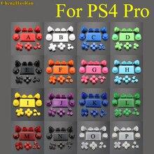 1 סט 18 צבעים מלא סט ג ויסטיקים d pad R1 L1 R2 L2 כיוון מפתח AB XY כפתורים עבור sony PS4 פרו JDS 040 050 055 בקרי