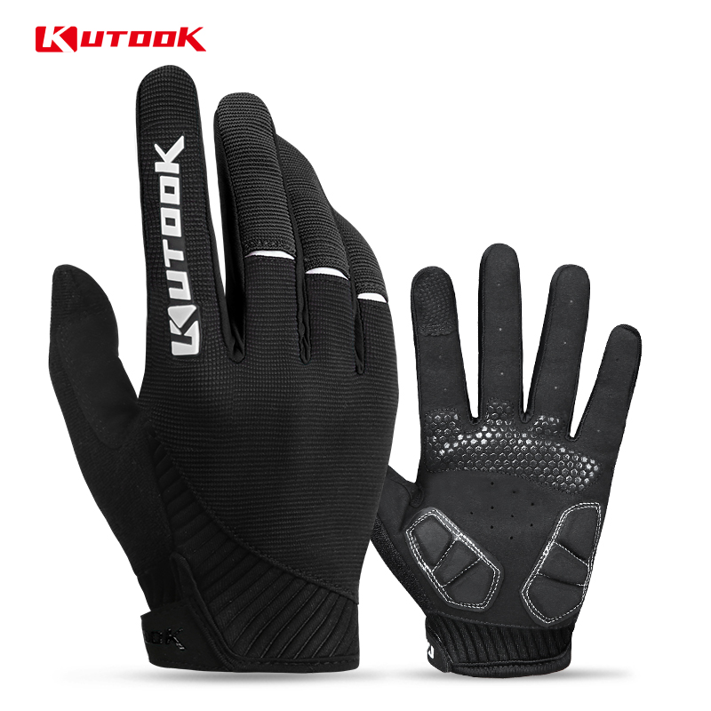 KUTOOK Sports Gloves MTB Cycling Gloves Mountain Bike Fitness Full Finger Gloves For Bicycle Man Woman