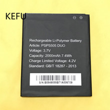 KEFU 2000mAh PSP5505 DUO Battery For Prestigio psp5505 duo Mobile Phone Large Capacity Replacement Batteries