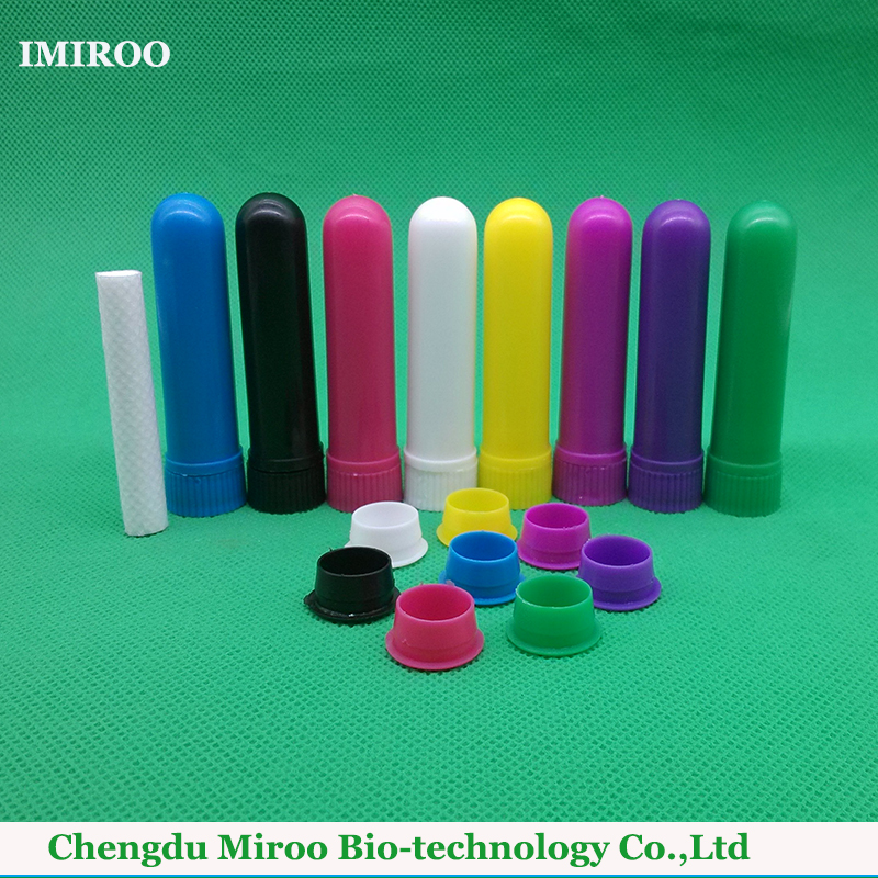 2017 Hot Sale 8 sets/lot Colored Essential Oil Blank Inhaler, PP Plastic Nasal Inhaler Container with Best Quality Cotton Wicks kongdy 3 pieces aromatic peppermint inhaler cure stuff nose anti motion sickness nasal inhaler eucalyptus