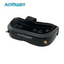AOMWAY Commander V1S FPV очки 5,8 ГГц 64CH разнообразие 3D HDMI Встроенный вентилятор DVR Поддержка головы отслеживания для RC гоночный Дрон