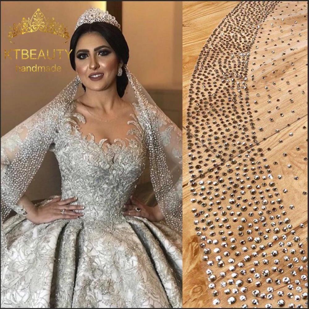 New DHL  Catedral De Velo Royal Grenadine Crystal Bring Veil Custom Made 3M Wide Veil Bridal Wedding Accessories Wedding Veil