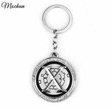 MQCHUN Marvel Comics X-men Xmen X Logo Pendant Keychain Metal Figure Key Chain Ring Charms Keyring chaveiros llaveros porte clef