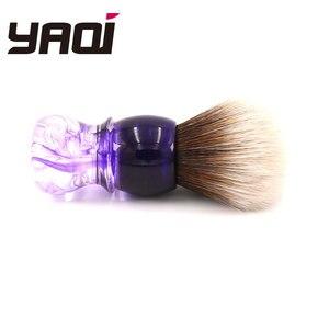 Image 4 - Yaqi fioletowy Haze Mew brązowy syntetyczny uchwyt męski pędzel do golenia brody