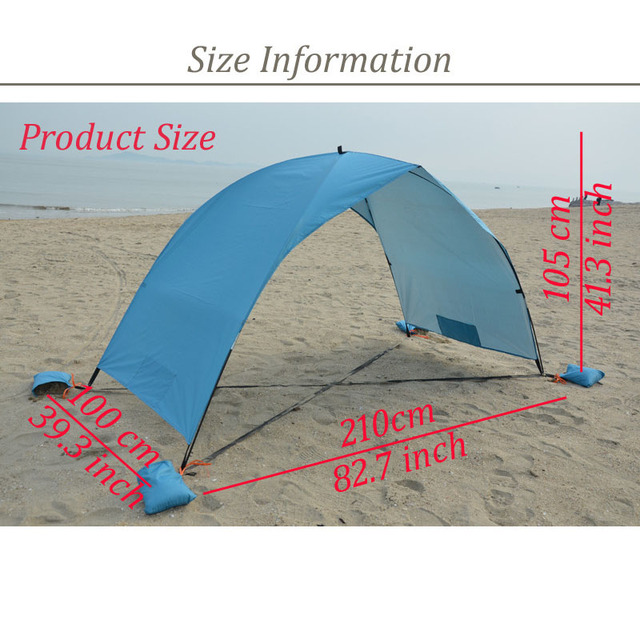 Portable Beach Tent Sun Shade Canopy Fishing Shelter Tents Awning Sunshade Summer Beach Tent UV Protection