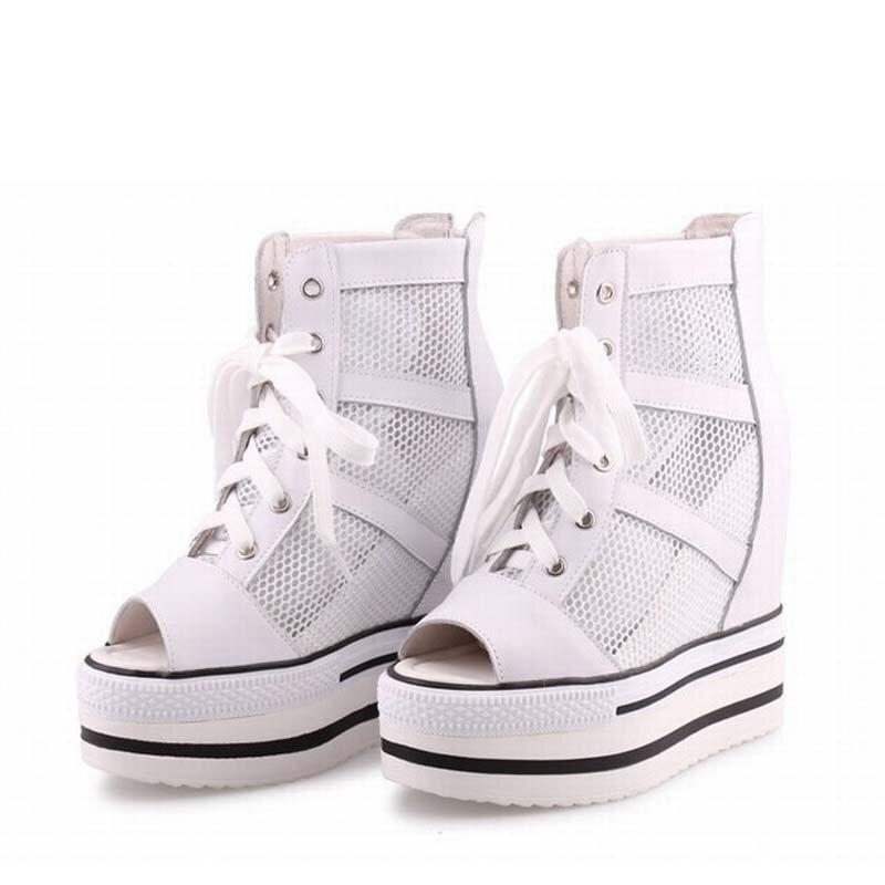 2017 women shoes woman platform wedge high heels open toe casual ladies shoes zapatillas deportivas zapatos mujer tenis feminino