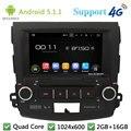 "Quad Core 8 ""1024*600 Android 5.1.1 Dvd-плеер Автомобиля Радио Стерео BT FM DAB + 3 Г/4 Г WI-FI GPS Для Mitsubishi Outlander 2006-2012"