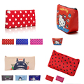 2017 Four kinds of style Cosmetic Bag Cartoon Image Small Makeup Bag Women Bag Organisers Cosmetic Bag 1,2,3,4