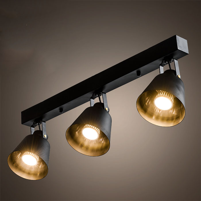 A1 Track LED Ceiling Lights iron clothing store library bar lights creative Personalized 1-5heads Black/white Ceiling lamp GY248 led cob track lights clothing store