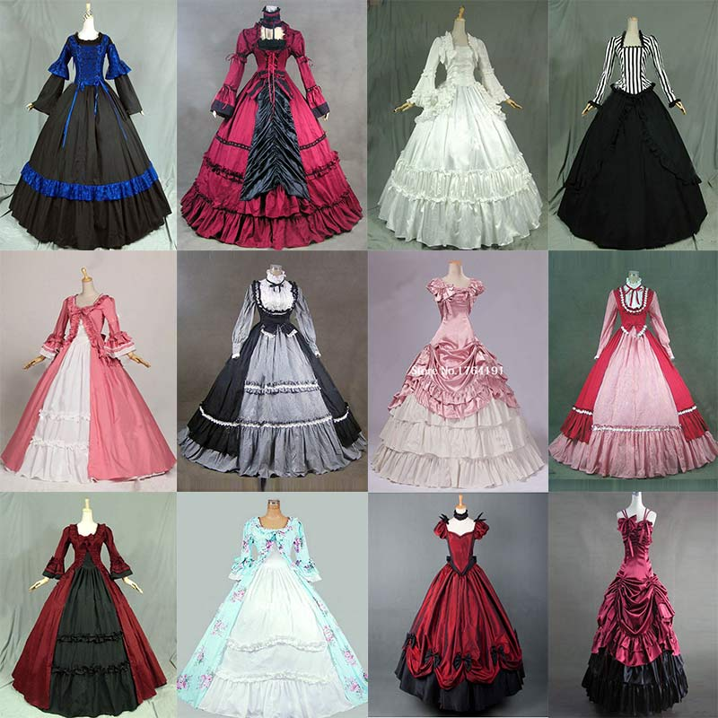 18th European Court Marie Antoinette Princess Dress Costume Halloween Gothic Victorian historical Ball Gowns For Women