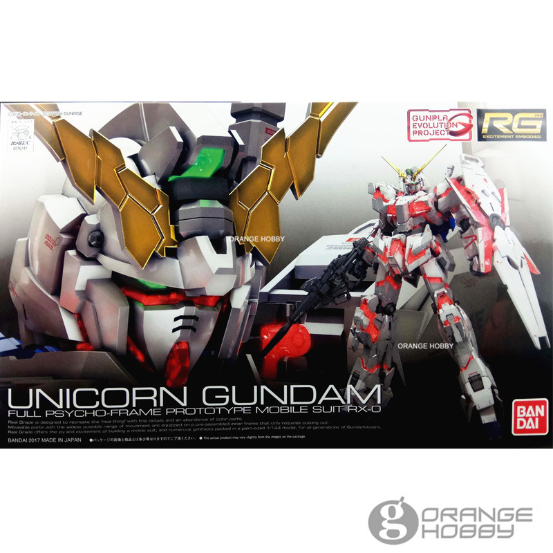 OHS Bandai RG 25 1/144 Bandai RG 25 1/144 Unicorn Gundam Full Psycho-Frame Prototype RX-0 Mobile Suit Assembly Model Kits oh cmt instock dragon momoko 1 60 pg unicorn gundam rx 0