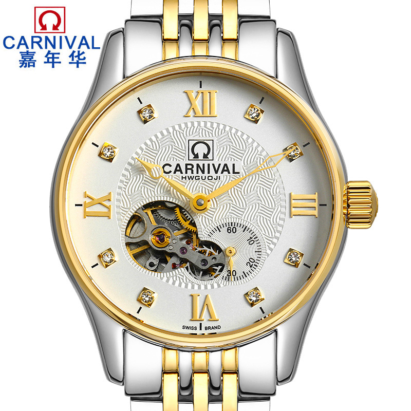 CARNIVAL New Fashion Tourbillon Men Watch Top brand Automatic Watch Men Sapphire Cystal Waterproof Business mechanical watchesCARNIVAL New Fashion Tourbillon Men Watch Top brand Automatic Watch Men Sapphire Cystal Waterproof Business mechanical watches