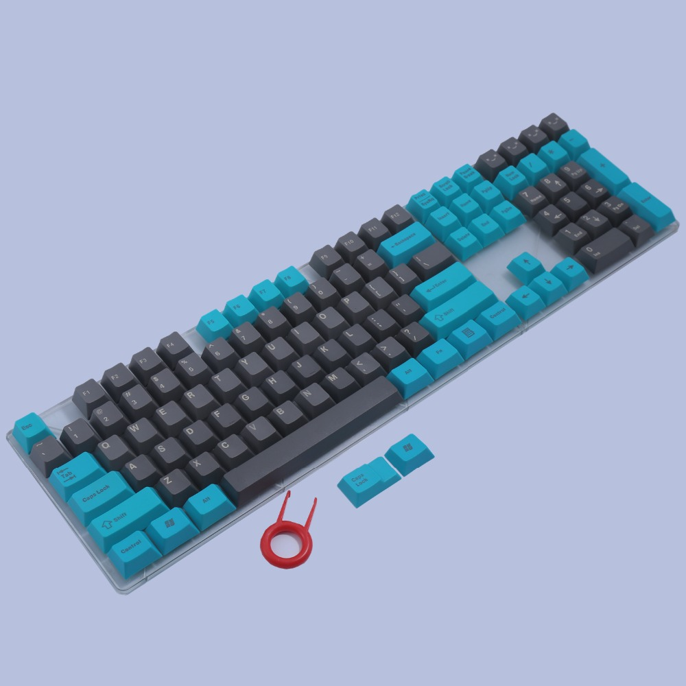 PBT keycaps Top/Side/Front Print 110 Keyset ANSI Layout Cherry MX Key Caps For Cherry3000/87/104/108 Mechanical Gaming Keyboard