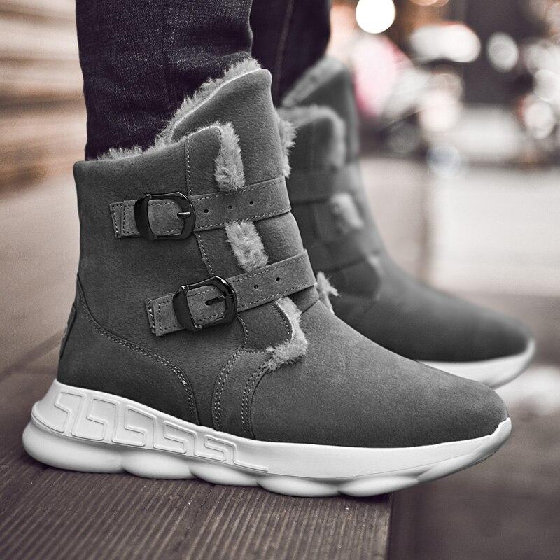gris Hiver Northmarch Bottes Neige Botas Hombre Invierno Fourrure Cuir Chaussures Pour Noir Mode Mens De Hommes Casual Chaud marron D'hiver En 5FqFR