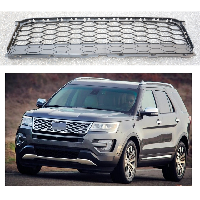 1 Pc Front Lower Mesh Honeycomb Grille Face Per Grill Insert For Ford Explorer 2016