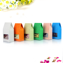 Free Shipping 50pcs/Lot 8cm*15.5cm+5cm Bottom *140Mciron White Stand Up Kraft Paper Box With Window Food Packaging Bags