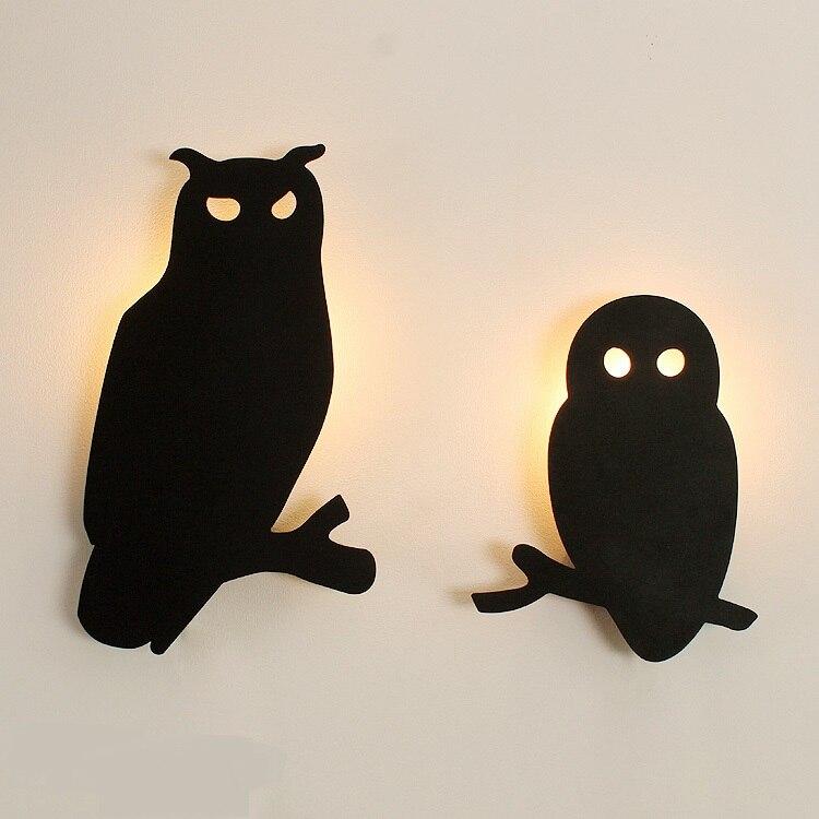 Nordic style owl Wall Lamps children's bedroom hanging animal lights creative personality modeling lighti LU80379
