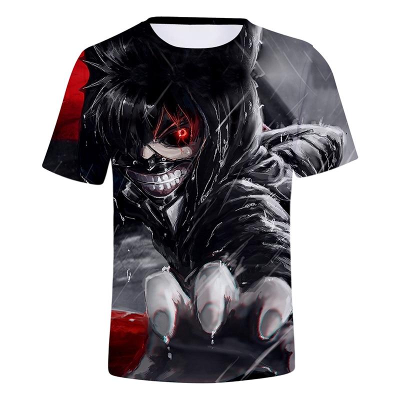 Top Quality Men Women Tokyo Ghoul 3d Tshirts Anime Character Horror T shirt Short Sleeve Men Hip Hop t shirts 4Xl Whimsical Tees