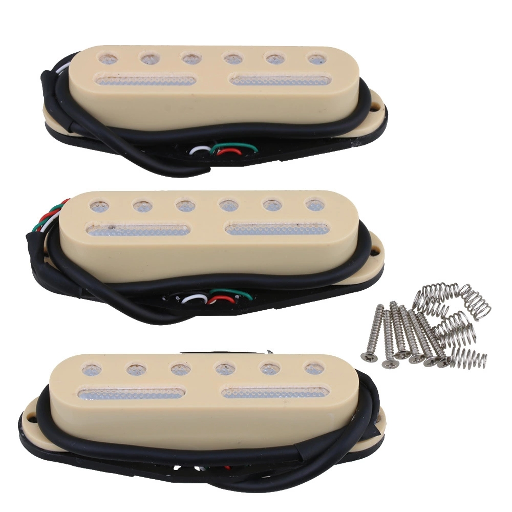 3PCS Yellow 48/50/52mm Single Coil Pickup to Humbucker Electric Guitar kaish 3x silver mirror guitar single coil pickup surround ring for sized pickup