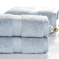 SunnyRain 3 Piece Solid Color Heavy Egyptian Cotton Towel Set Bath Towel For Adults Face Towel GMS 600G Water absorbent toallas
