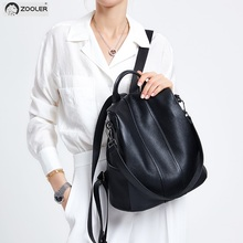 ZOOLER Women Backpack Genuine Leather Fashion Causal Bags High Quality Cowskin Female Shoulder Bag Backpacks For Girls Hot#Z176