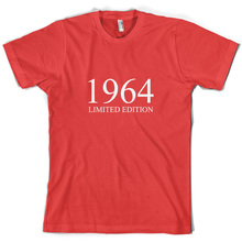 1964 Limited Edition - Mens 50th Birthday Present / Gift T-Shirt 10 ColoursNew T Shirts Funny Tops Tee New Unisex