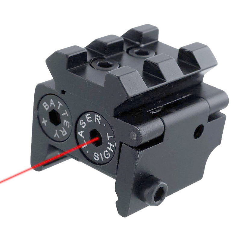 Adjustable Mini Red Dot Laser Sight Compact With Detachable Picatinny 20mm Rail For Pistol Air-gun Rifle Hunting Accessories
