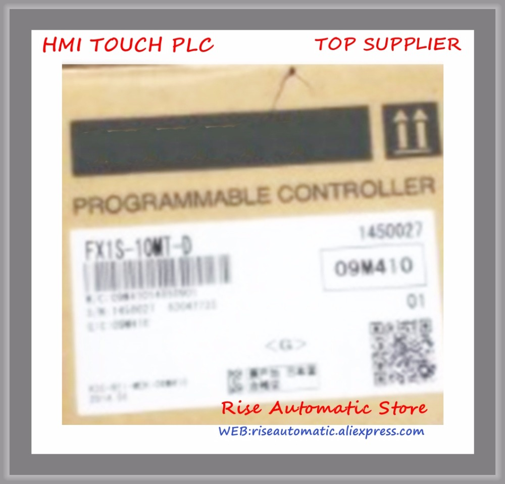 New Original Programmable Logic Controller FX1S-10MT FX1S-10MT-D PLC 24V DC Transistor Output Base Unit