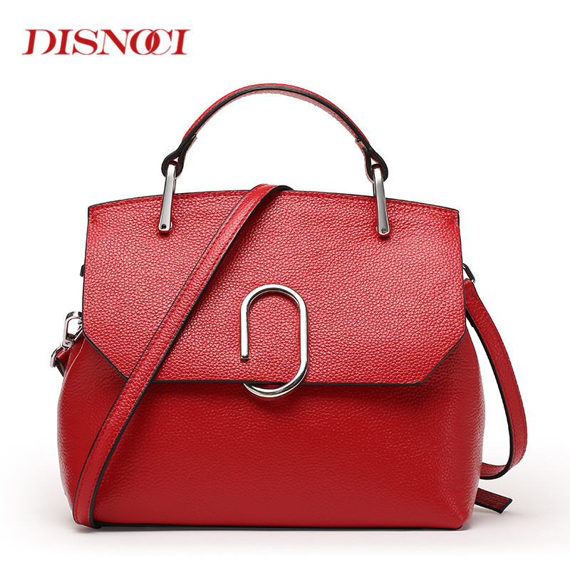 DISNOCI Women Luxury Genuine Leather Handbags Elegant Women Messenger Bag Ladies Shoulder bags Cover Crossbody Bags rehau rautherm s труба отопительная 14x1 5